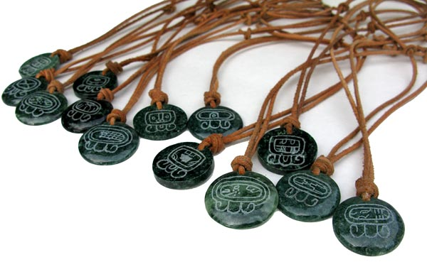 Jade Mayan Sun Signs from Guatemala