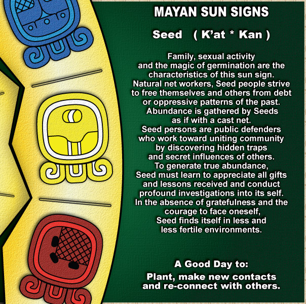 If you want more information on Mayan Astrology Signs, you might also like: