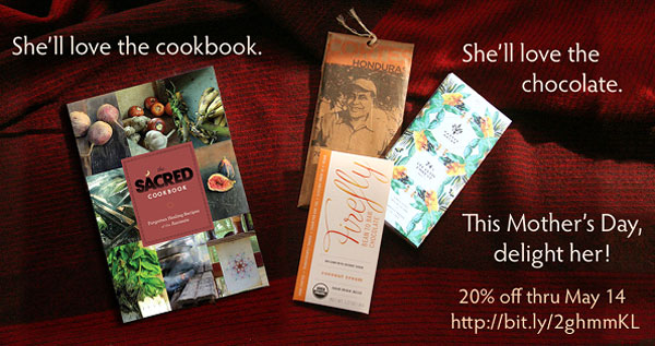 Mother's Day Gifts - Cookbook & Bar gift set