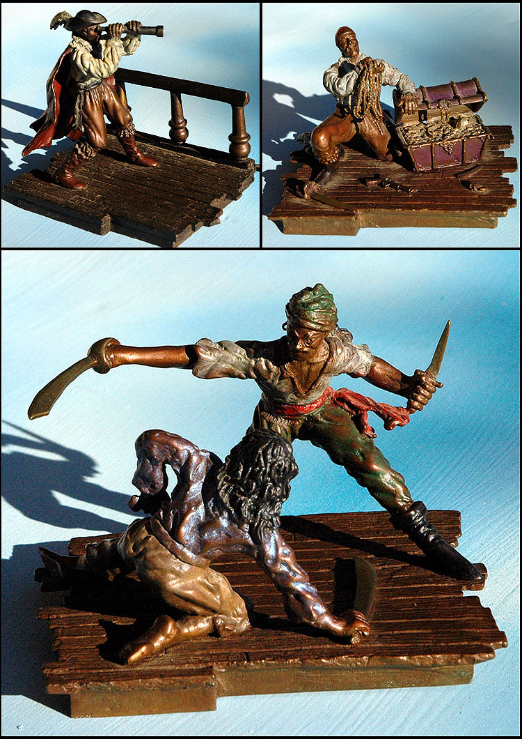 Ian Xel Lungold - Pirate Scullptures